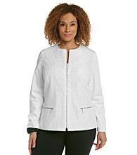 Laura Ashley® Plus Size White Lace Jacket