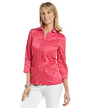 Laura Ashley® Pink Ruched Placket Jacket