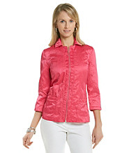 Laura Ashley® Petites' Pink Ruched Placket Jacket