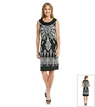 Laura Ashley® Medallion Print Sleeveless Dress