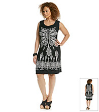 Laura Ashley® Plus Size Medallion Print Dress