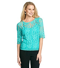 Fever™ Allover Lace Top With Cami