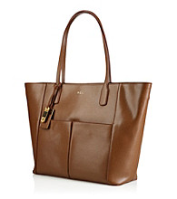 Lauren Ralph Lauren Newbury Leather Pocket Tote