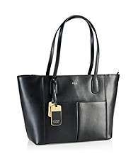 Lauren Ralph Lauren Newbury Leather Pocket Shopper