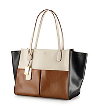 Lauren Ralph Lauren Newbury Leather Color Blocked Tote