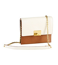Lauren Ralph Lauren Newbury Leather Color Blocked Small Leather Cross-Body Bag