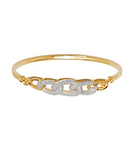 18K Gold-Over-Brass Woven Bangle Bracelet