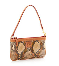 Dooney & Bourke® Tan Python Large Slim Wristlet