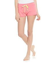Steve Madden French Terry Lounge Shorts - Passionfruit Pink