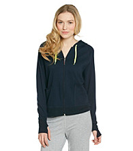 Steve Madden French Terry Zip Hoodie - Twilight Blue