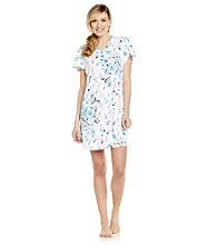 KN Karen Neuburger Knit Henley Sleepshirt - Willow Floral