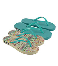 MUK LUKS® Boho Multi Flat Flip Flops 2Pair Packs
