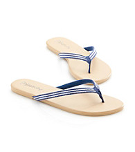 Relativity® Striped Webbed Flip Flops