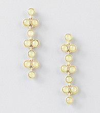 Relativity® Goldtone Linear Drop Earrings