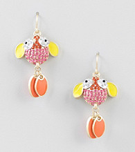 Relativity® Goldtone Shaky Fish Drop Earrings