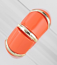 Relativity® Orange/Goldtone Wide Stretch Bracelet