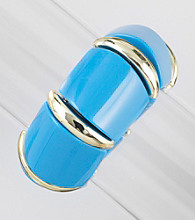 Relativity® Blue/Goldtone Wide Stretch Bracelet