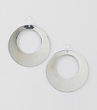 Relativity® Silvertone Large Drop Earrings