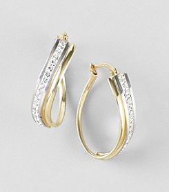 Auragento Twist Crystal Hoop Earrings