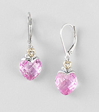 Created Pink Sapphire Earrings