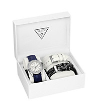 Guess Silver/Multi Feminine Classic Hi-Energy Style Watch with Three Interchangeable Straps