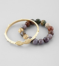 Erica Lyons® Multi Two-Piece Bracelet Set