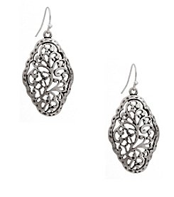 Erica Lyons® Silvertone Pierced Earrings