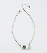 Guess Silvertone Pendant Necklace