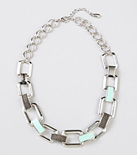 Guess Silvertone Bib Necklace