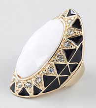 Guess Goldtone Oval Ring