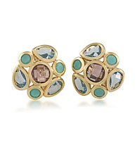 Carolee® Goldtone Candy Colors Cluster Button Earrings