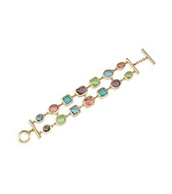 Carolee® Candy Colors Double Row Bracelet