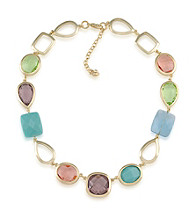 Carolee® Goldtone Candy Colors Collar Necklace