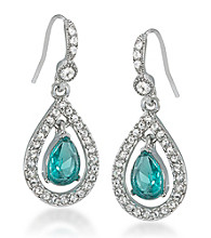 Carolee® Simply Springtime Multi Pave Drop Earrings