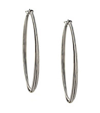 Jessica Simpson Silvertone Gypsy Double Hoop Earrings