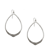 Jessica Simpson Silvertone Open Hoop Earrings