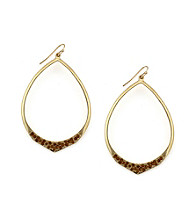 Jessica Simpson Goldtone Open Hoop Earrings