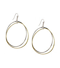 Jessica Simpson Two Tone Drop Earrings