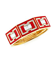 Vince Camuto™ Deco Items Goldtone and Red Hinge Bracelet