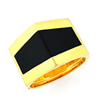 Vince Camuto™ Goldtone and Black Ms. Bond Bracelet