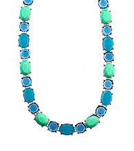 Anne Klein® Silvertone Blue Collar Necklace