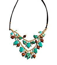 Nine West Vintage America Collection® Antique Goldtone Shaky Frontal Necklace