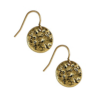 Nine West Vintage America Collection® Antique Goldtone Circle Drop Earrings plus size,  plus size fashion plus size appare