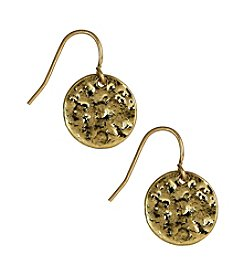 Nine West Vintage America Collection® Antique Goldtone Circle Drop Earrings
