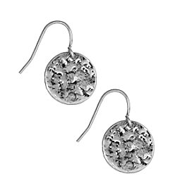 Nine West Vintage America Collection® Antique Silvertone Circle Drop Earrings