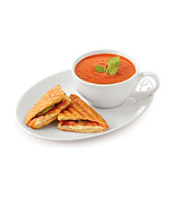 LivingQuarters Whiteware 2-pc. Soup and Sandwich Tray