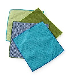 Ritz™ Blue and Green 4-pk. Microfiber Dish Cloths