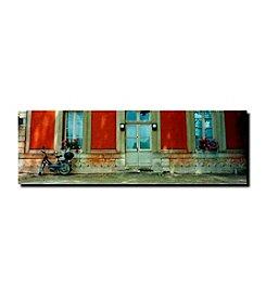 """Trademark Fine Art """"Scooter in Versailles"""" by Preston"""