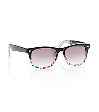 Betsey Johnson® Black Floral Wayfarer Sunglasses