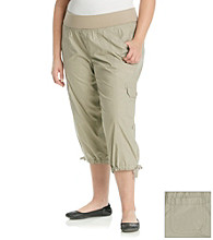 Calvin Klein Performance Plus Size Roll Waistband Crop Cargo